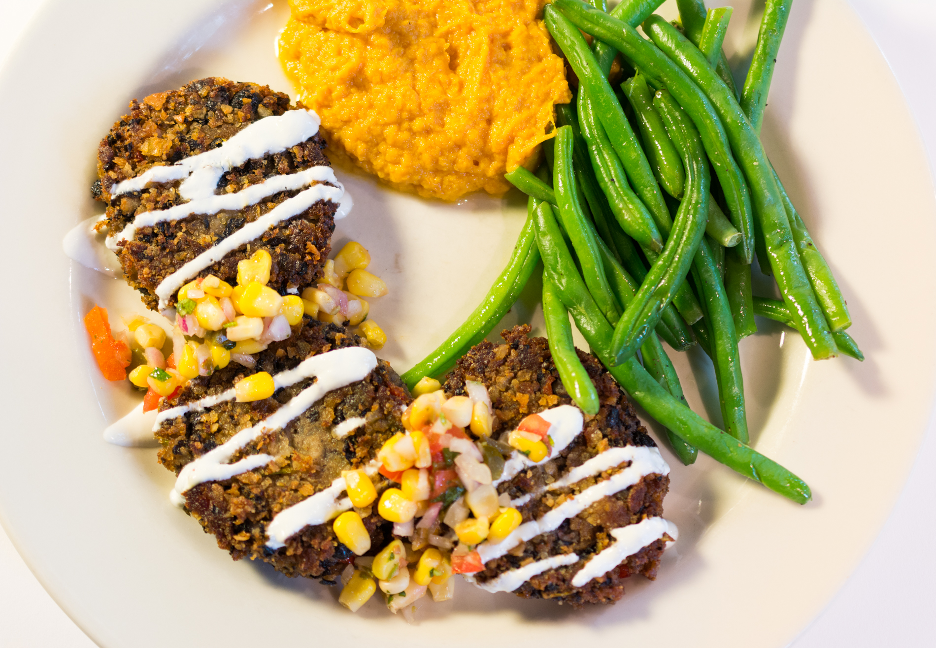 Lucky  Black Bean Cakes